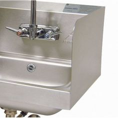 Advance Tabco Two High Welded Side Splashes for Bowl with Splash Mount Faucet