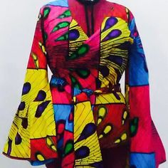 A personal favourite from my Etsy shop https://www.etsy.com/uk/listing/540658206/african-ankara-print-bell-sleeves-wrap