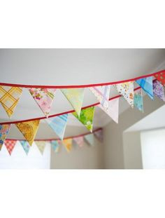 vintage fabric bunting garland