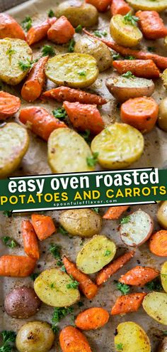 Roasted Veggies In Oven, Roasted Potatoes And Carrots, Roasted Potato Recipes, Healthy Potatoes, Carrot Recipes, Recipe For Roasted Potatoes, Potatoes In Oven, Hasselback Potatoes, Meal Recipes