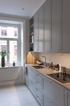 Home Decor Kitchen, Rustic Kitchen, Kitchen Interior, New Kitchen, Home Kitchens, Kitchen Dining, Ikea Kitchen Inspiration, Küchen Design, Modern Kitchen Design