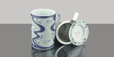 Mug Cylinder Japan Manga Blue