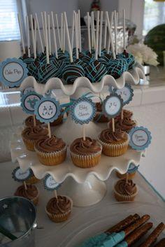boy cake pops | Baby Boy Cake Pops & Cupcakes | Jungle Themed Baby Shower