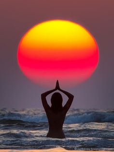 Yoga sunset. One with nature...