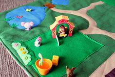 felt sewing projects with children | felt play mat | Felt Play Mat: Littlest Pet Shop | Handmade and Home ...