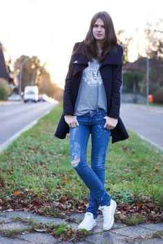 Grey Converse Shoes Outfit