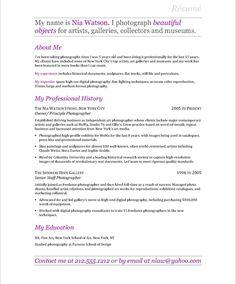 Resume For A Photographer Freelance Photographer Resume