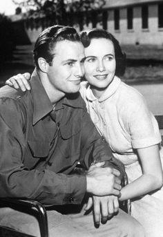 "Teresa Wright and Marlon Brando, ""The Men"", 1950.."