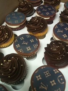 Louis Vuitton Cupcakes | Pin by Sweet Tooth's Compilation on T46. Women's Closet | Pinterest