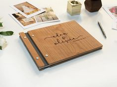 Wedding Guest Book Wood Guest Book Photo Booth Guestbook