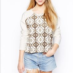 bellfiled mosiac print light sweater Super chic Bellfiled  Sweaters