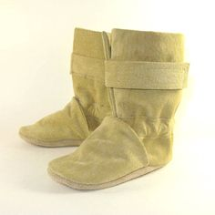 Soft Sole Leather Baby Boots Shoes Winter 6 to 12 Month. $38.50, via Etsy.