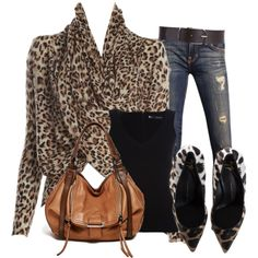 """Bundled In A Leopard Wrap"" by christina-young on Polyvore"