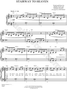 I found digital sheet music for Stairway To Heaven by Led Zeppelin from 1972 at Musicnotes.
