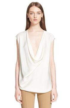 LANVIN Drape Front Blouse. #lanvin #cloth #blouse #top