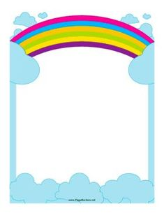 rainbow page border free downloads at http pageborders org rh pinterest com Rainbow Frame Clip Art Rainbow Heart Clip Art