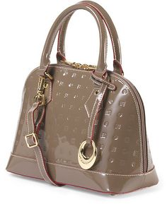 Made In Italy Patent Leather Buggati Mini Satchel