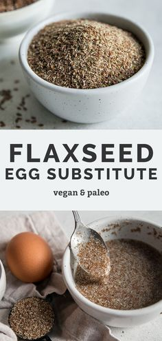 This flaxseed egg recipe shows you how to make your own vegan egg replacement. It's simple to whip together for your favorite vegan recipe. As long as you have some flaxseeds and water, you'll always be able to make a healthy egg replacement for baking your favorite vegan pancakes, cookies, brownies, or whatever you're craving!