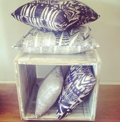 Our homewares can be found on our website #handmade #whitewash #pillows #tribalprint #homewares #myeecarlyle
