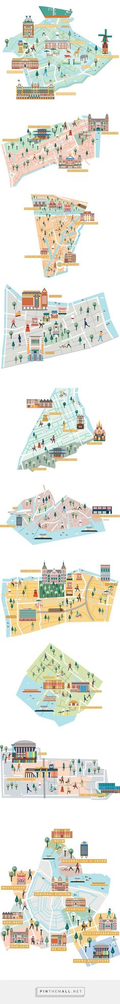 IAMSTERDAM Neighborhoods guide maps on Behance