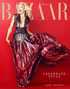 "Kate Hudson Looks Radiant in Harper's Bazaar, Says She ""Can't Afford to Buy"" Red Carpet Gowns"