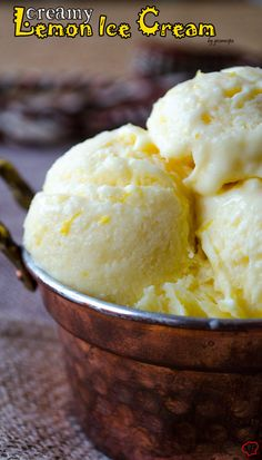 Creamy lemon ice cream loaded with lemon zest and lemon juice. The best refreshing summer treat for lemon lovers! | giverecipe.com | #icecream #lemon #citrus #summer #zesty