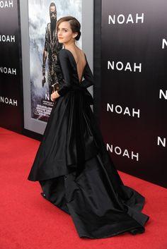 Emma Watson in Oscar de la Renta. [Photo by Steve Eichner]