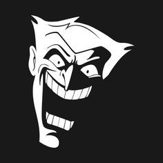 Shop The Joker joker t-shirts designed by Artboy as well as other joker merchandise at TeePublic. Joker Animated, Batman The Animated Series, Joker Pics, Joker Art, Joker Joker, Joker Drawings, Batman Drawing, Joker Stencil, Joker Logo