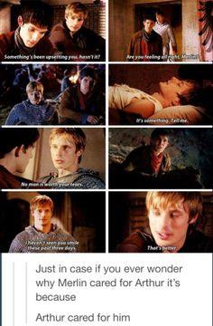 Brotherhood- Arthur & merlin :) #hecares I miss them both so much.