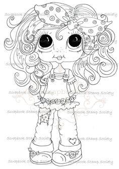 INSTANT DOWNLOAD Digital Digi Stamps Big Eye Big Head Dolls Digi  My Besties IMG726 By Sherri Baldy