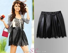 Here you'll find information on the latest outfits that Selena has worn and where to get them. Latest Outfits, Fashion Outfits, Selena Gomez Closet, Petra Collins, Golden Goddess, Leather Mini Skirts, Skater Skirt, Photoshoot