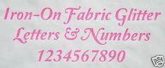 Iron-on #glitter letters neon pink #transfer+ free rhinestones - #elegant font,  View more on the LINK: http://www.zeppy.io/product/gb/2/142050829356/