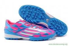 newest collection 0d8e8 789cf zapatos baratos online ADIDAS ADIZERO F50 TF Rosa azul Blanco Leo Messi