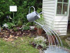 Garden art | Galvanized Watering Can Garden Art & Fountains
