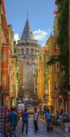 The Galata Tower in Istanbul, Turkey