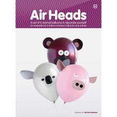 "AIR HEAD BALLOONS ANIMAL PIG ROOSTER KOALA RHINO TIGER BEAR ""FREE POSTAGE"" W7732"