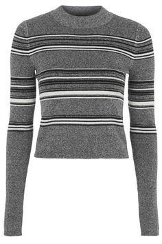 Photo 1 of Cropped Stripe Knit Sweater