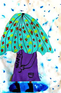 Check out student artwork posted to Artsonia from the Stormy Weather project gallery at Monroe School. Primary School Art, Art School, 2nd Grade Art, Grade 2, Spring Art Projects, Umbrella Art, Kindergarten Art, Art Lessons Elementary, Art Lesson Plans