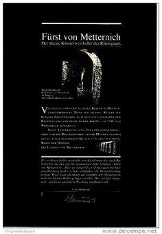 Original-Werbung/Inserat/ Anzeige 1968 - 1/1-SEITE - SEKT: FÜRST VON METTERNICH  - ca. 250 X 160 mm