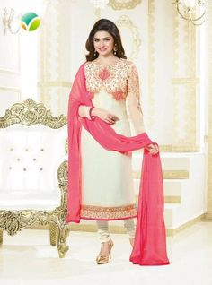 830daf27dd Vinay Fashion 2673 White Color Georgette Long Designer Suit Bollywood Dress,  Bollywood Suits, Special