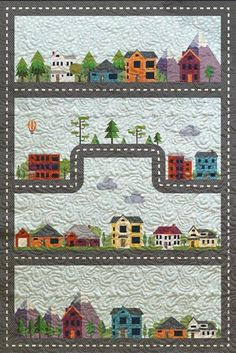 """""""Scenic Drive"""" Quilt and Car Playmat - Custom Quilts by Stitched"""