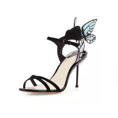 2017 Summer Style Women s High Heels Peep Toe Stiletto Sandals Butterfly  Bowtie Ladies Celebrity Shoes Pumps 45b30983de93