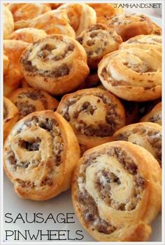Jam Hands: Sausage and Cream Cheese Pinwheels