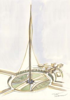 Image 11 of 13 from gallery of Santiago Calatrava Reveals New Details About Dubai Observation Tower. Photograph by Santiago Calatrava Santiago Calatrava, Futuristic Architecture, Architecture Design, Emaar Properties, Tower Design, Architectural Features, Classical Art, Zaha Hadid, New Details