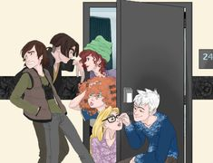 I love this not only because it's Jack and rapunzel and Hiccup and merida. But, it's jim and ariel too!!!!!!!