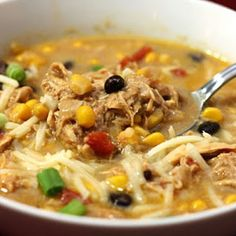 Crockpot Chicken Enchilada Soup I've made this multiple times and it is AMAZING!