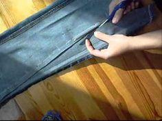 Jak zwęzić nogawki w spodniach - YouTube