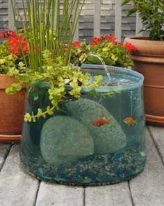 Du möchtest einen Teich, aber hast kaum Platz? Die Lösung: ein entzückender Teich im Topf! - Seite 2 von 12 - DIY Bastelideen