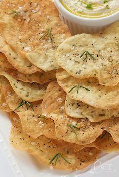 Lemon Rosemary Flatbread Crackers - everyone goes crazy over these shatteringly crisp crackers. They're perfect with hummus and dips but also pair well with salads and soups.