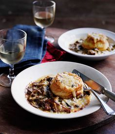 Australian Gourmet Traveller recipe for twice-cooked mushroom soufflé. Vegetable Dishes, Vegetable Recipes, Vegetarian Recipes, Cooking Recipes, Vegetarian Cooking, Meal Recipes, Recipies, Dinner Party Recipes, Gourmet